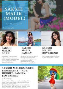 Sakshi Malik(Model) Biography - Age, Height, Weight, Family, Boyfriend